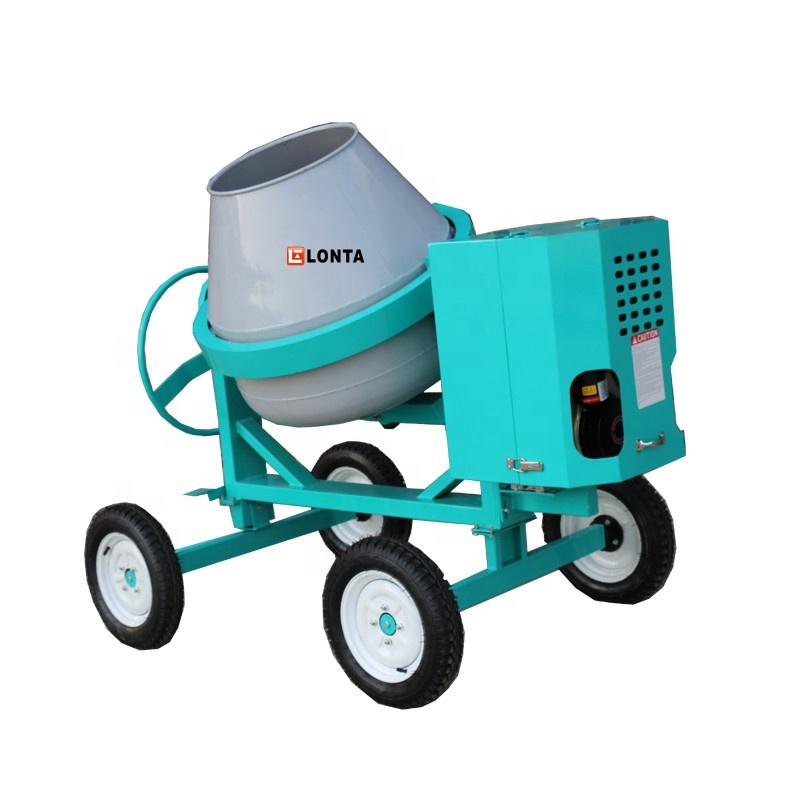 350L  steel concrete mixer diesel engine concrete mixer self loading cement mixer machine from lonta machinery