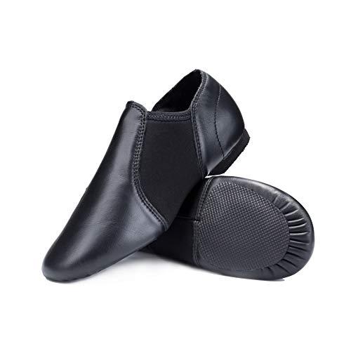 Aslipper Leather Jazz Slip-on Dance