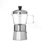 Heat-resistant cheap durable aluminum moka espresso coffee pot maker