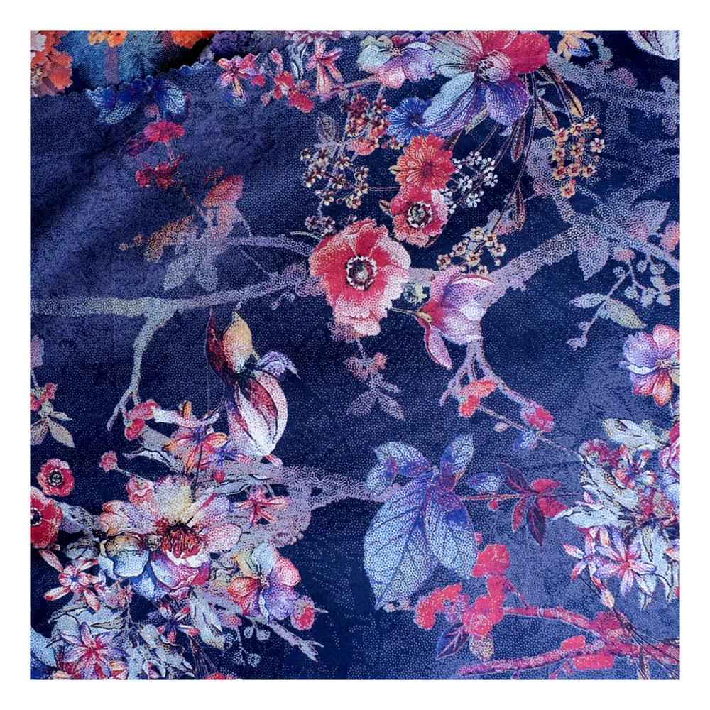 ready goods China Manufacturer discharge printing rayon fabric 100% viscose fabric for dress