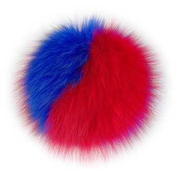 14CM Fashion colorful fox fur pompoms for knitted winter hat/bag/garment