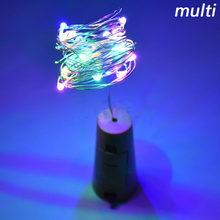 Z90 2 м 20 Светодиодная лампа пробковая пробка для бутылки стеклянная винная светодиодная гирлянда для бара рождественское свадебное украшен...(Китай)