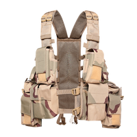 XINXING Camouflage Military Tactical Vest Army Combat Vest with Pistol Holster Polyester for Police Outdoor TV04