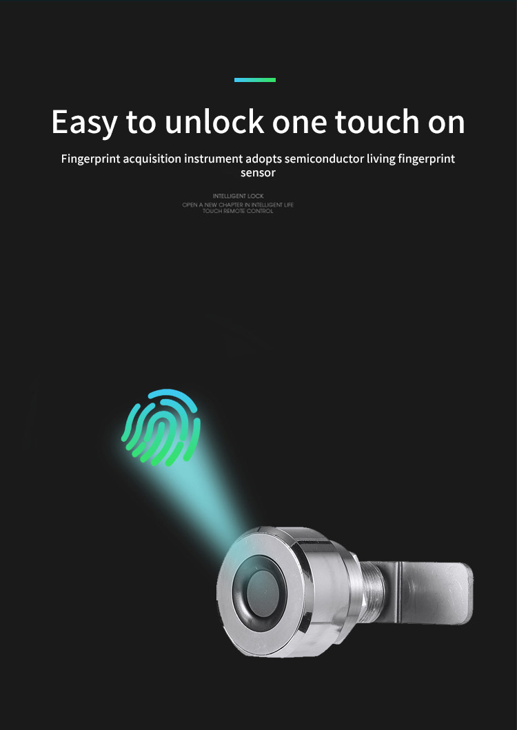 Biometric Finger Print small smart handle Cabinet Locker security fingerprint lock sensor