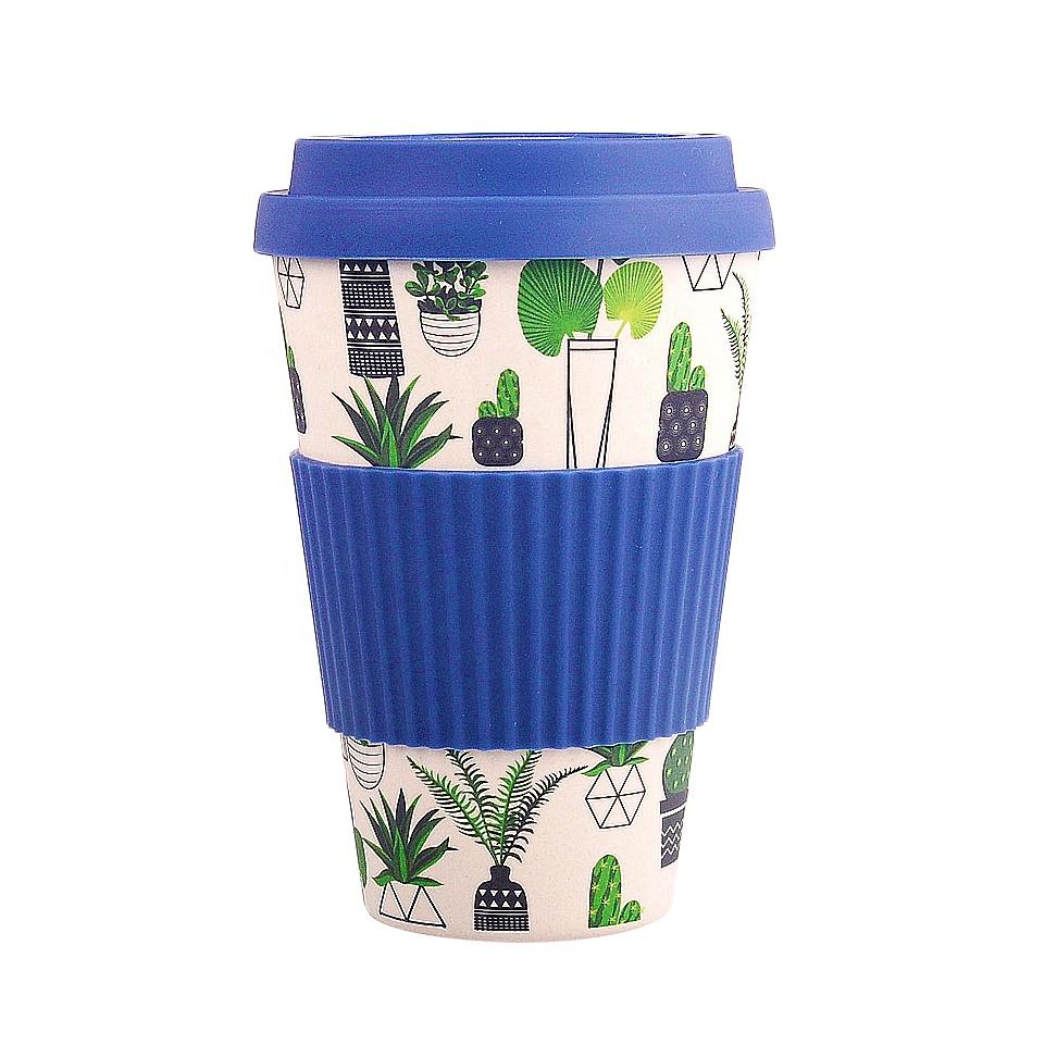 450ml Custom 100% Completely Biodegradable Bamboo Fiber Tea Milk Drink Cup Coffee Mug
