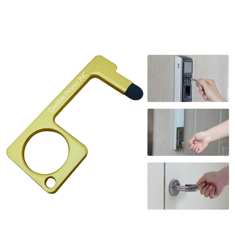 No Touch Alloy Door Opener with Stylus