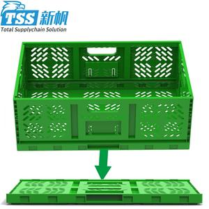 Turnover Foldable Plastic Storage Container Safety Tote Box factory directly
