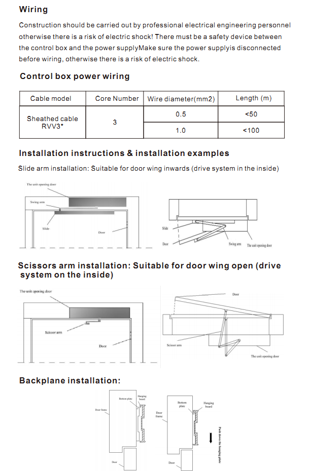 Touchless access solution electric automatic swing door operator for building gate
