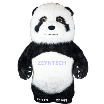 Christmas funny cute cosplay giant inflatable plush mascot panda bear costume adult for sale