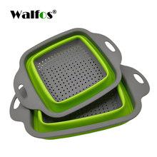 WALFOS 2 шт./компл. складной фильтр корзина складной дуршлаг наборы квадратной формы для мытья овощей и фруктов кухонные корзины(Китай)