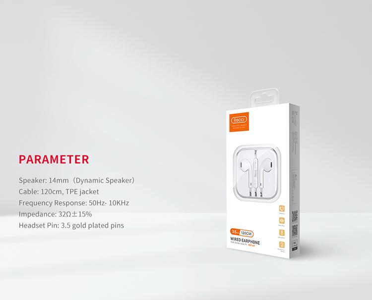 Recci wired earphone accessories earphones headphones headsets