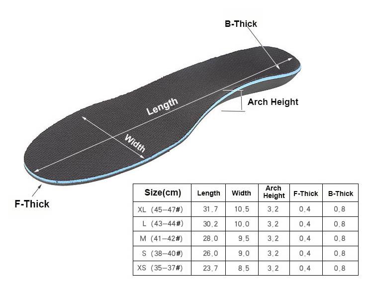 Custom Eva Foot Correction Orthotic Shoe Insoles Orthopedic insoles
