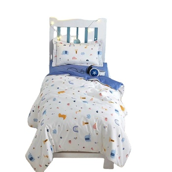 Baby and kindergarten 100% cotton quilt 3 pieces bedding sets dream time