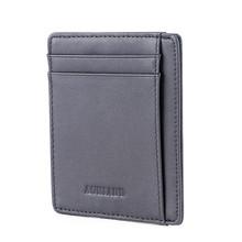 Супер тонкий мягкий кошелек из натуральной кожи, мини-кошелек для кредитных карт, кошелек, держатели для карт, мужской кошелек, тонкий мален...(Китай)