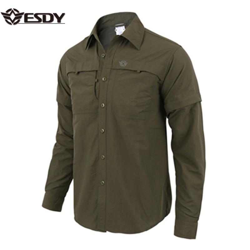 ESDY Men's Hiking Military Long Sleeve Quick Drying Shirts фото