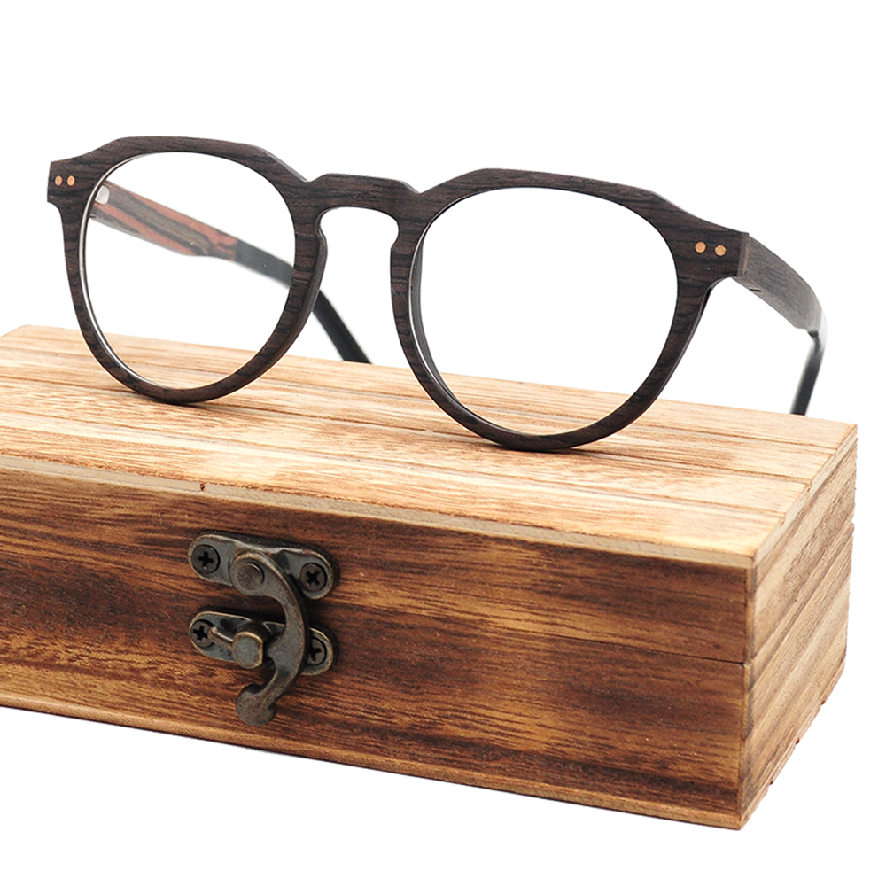 Oak/ Walnut/Maple Laminated Wooden Glasses Prescription Eyewear Frame Fashion glasses reading