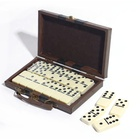 Domino Game Professional Dominoes Professional Custom Plastic Ivory Domino Game Toy Set In Leather Box