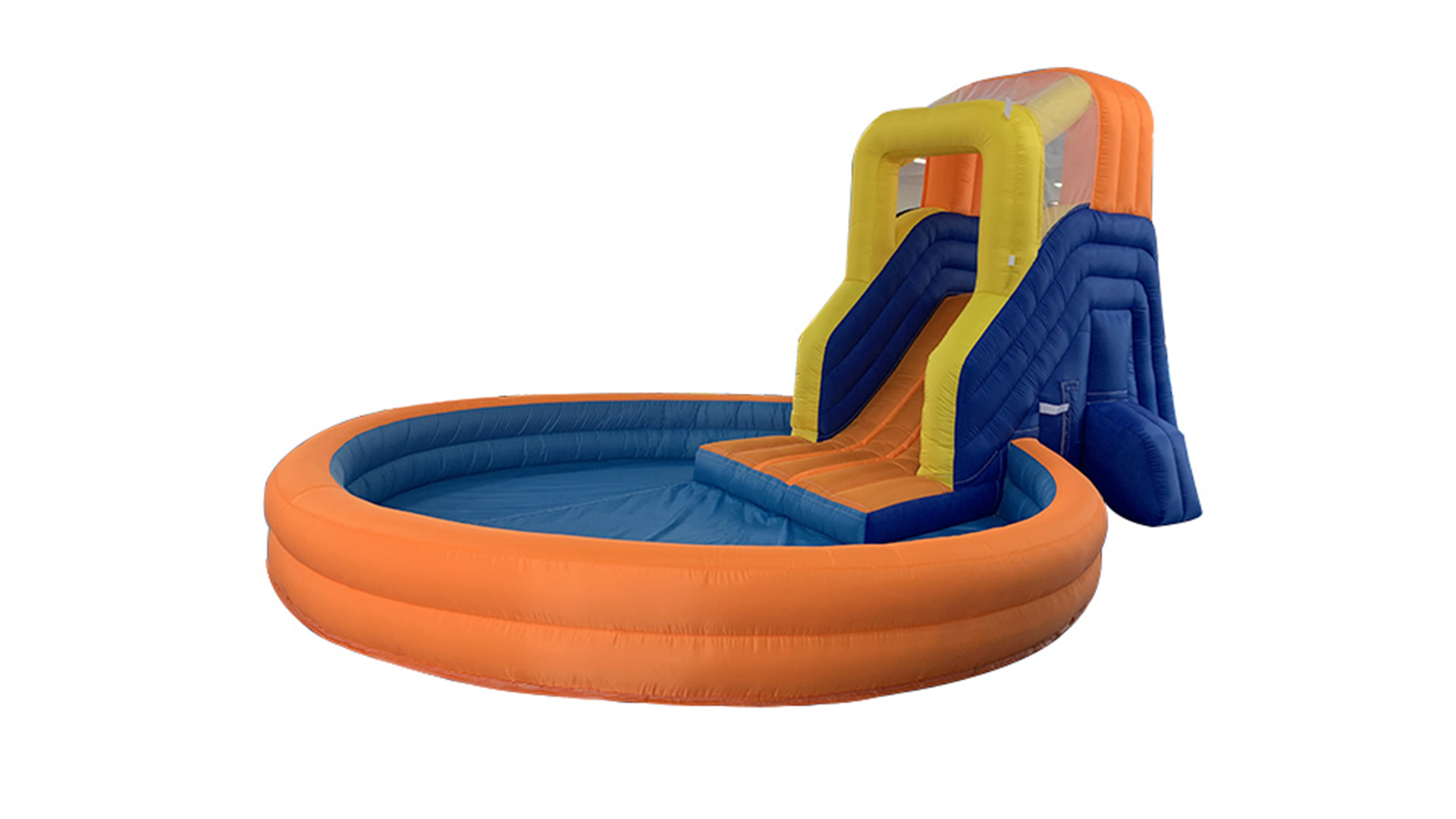 China factory customized design kids oxford inflatable slide with water pool