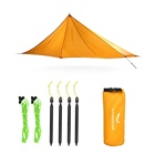 KingGear Waterproof Ultralight Camping Fishing BBQ 210T Polyester Fabric Portable Sun Rain Fly Tarp Shelter Tent