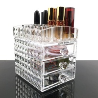 Acrylic Cosmetic Storage Organizer, Makeup Organizer, Clear Acrylic Jewelry Cosmetic Storage Organizer Display Box Case