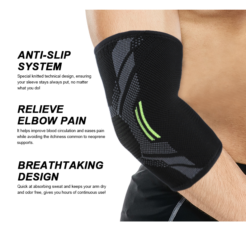 Adjustable Compression Elbow Sleeve Protective Elbow Support Sport Elbow Brace
