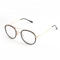 Alloy Designers Eyeglasses Round Spectacles PC Eyewear Metal Glasses Optical Frames For Unisex
