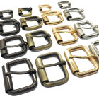 Bag Buckle For Metal Roller Bag Belt Straps Accessory Lock Pin Clip Square Handbag Hardware Buckle For Leather