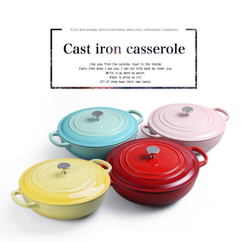 Эмалированный чугунный набор посуды кастрюли и сковородки