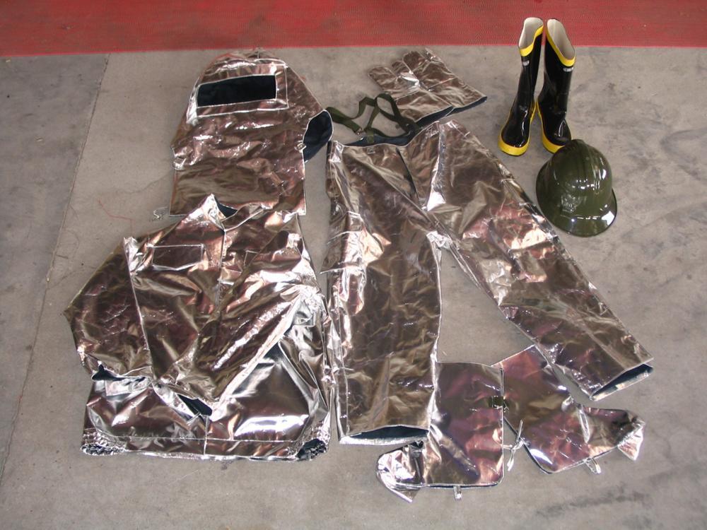aluminized fireman suit firefighting uniform/ fire resistance suit