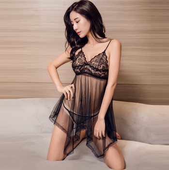 Cheapest New Design Hot Sexy Underwear Women Sexy Lingerie Ladies Net Transparent Conjoined Dress Lingerie