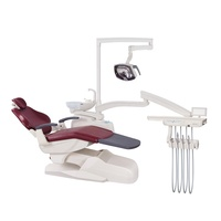 Chinese dental equipment Electric dental chair unit with LED sensor light JERRY brand 215C2 CE ISO approved dental unit