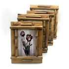 Photo Frame 6x8 Bamboo Photo Frame Picture Frame Crafts Simple Creative Gifts Natural Materials Handmade