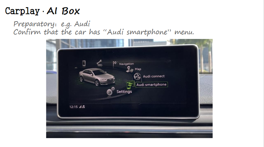 carplay smart touch box multimedia video interface audi  for universal car