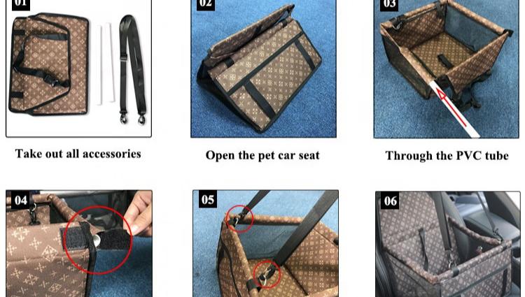 2020 도매 애완 동물 제품 커버 상자 애완 동물 여행 매트 개 자동차 좌석