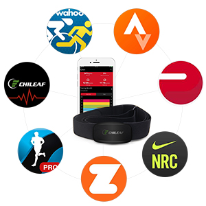 Wireless Pulse Calories Heart Rate Monitor with BLE 5.0 & ANT+ heart rate sensor with heart rate chest band