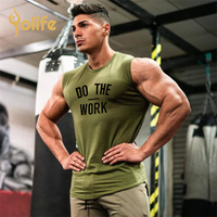 Brand Gyms Clothing Workout Sleeveless Shirt Tank Top Men Bodybuilding Fitness Mens Sport wear bamboo fitness clothing men
