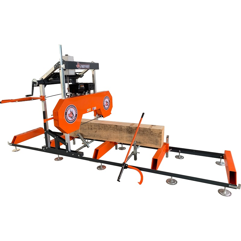 15hp gasoline engine portable sawmill with trailer / bandsaw mill with 31