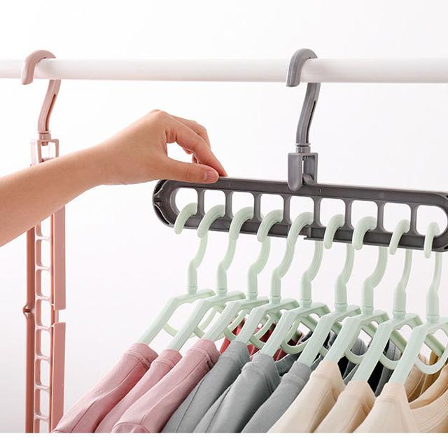 Magic แขวนเสื้อผ้าแบบแขวนพลาสติก, 360 องศาหมุน, สร้างสรรค์ตู้ Multifunctional Drying Coat Rack