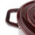 Cast Iron Wine red Burgundy Enamel Cooking Casserole oval dutch oven