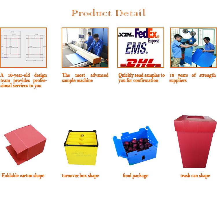Прямая продажа с Фабрики Пользовательские легкий вес синий горячего расплава PP полые складной коробка/гофрированный пластик коробка