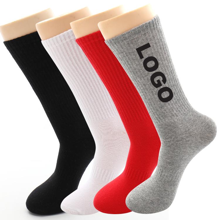 HJ-II-0450 blanc chaussettes 100 coton chaussettes vente en gros blanc hommes chaussettes