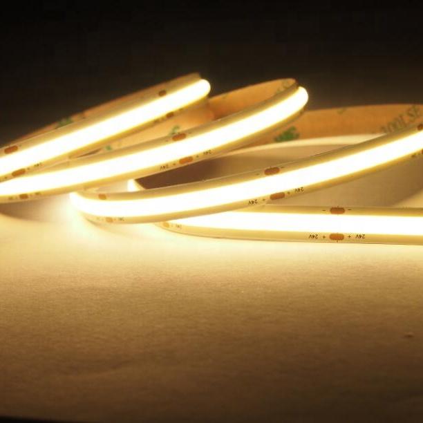 CRI90  LED Top Quality COB LED Strip Light No spots flexible cuttable bendable flexible liner lighting good heat-dissipation