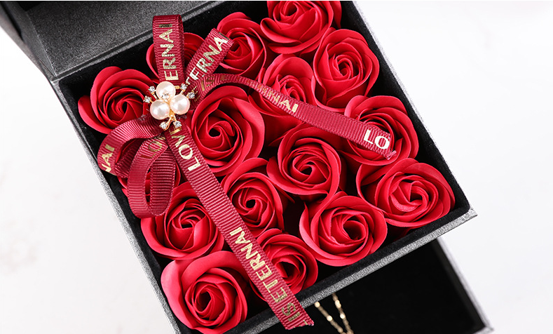 Creative drawer soap flower gift box 16pcs roses Mother's Day, Valentine Day Gift, Birthday Present