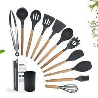 Wholesale Hot Sale Different Types Stainless Steel Silicone Non-Stick Cooking Kitchen Utensil Set