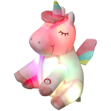 Light up giocattoli di <span class=keywords><strong>peluche</strong></span> unicorno LED unicorno unicorno di <span class=keywords><strong>peluche</strong></span> giocattoli di <span class=keywords><strong>peluche</strong></span> personalizzato
