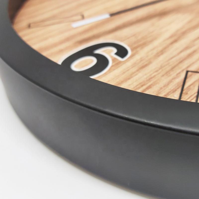 12 inch Decorative Wall Clock Metal Aluminum Clock