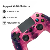 PS4 Game Controller, Wireless Gamepad for Playstation 4 Galaxy Purple Game Remote Joystick for PS4 PS3 PC