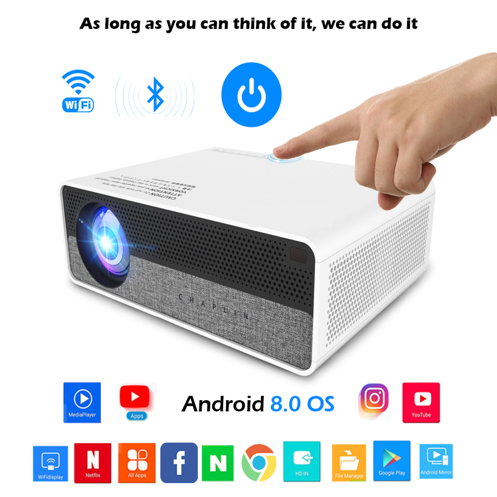 2020 Smart Android Projector 1080P Full HD LED Wifi Projector Q9 With Max Image Size 300inch