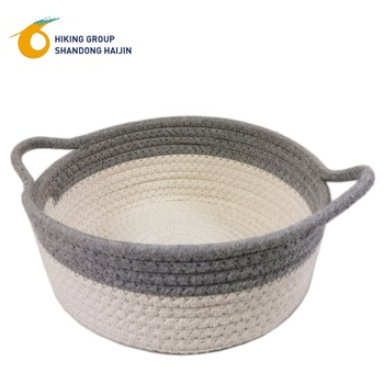 new cute storage basket decorative small storage basket cotton rope rope handles storage basket