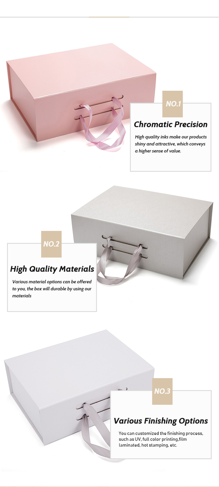 Custom Empty Magnetic Flat Pack Folding Paper Storage Packaging Box Foldable Cardboard Gift Box with Ribbon